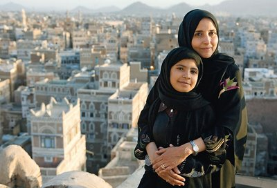 Nujood Ali with her lawyer, Shada Nasser (Photo courtesy Glamour Magazine)